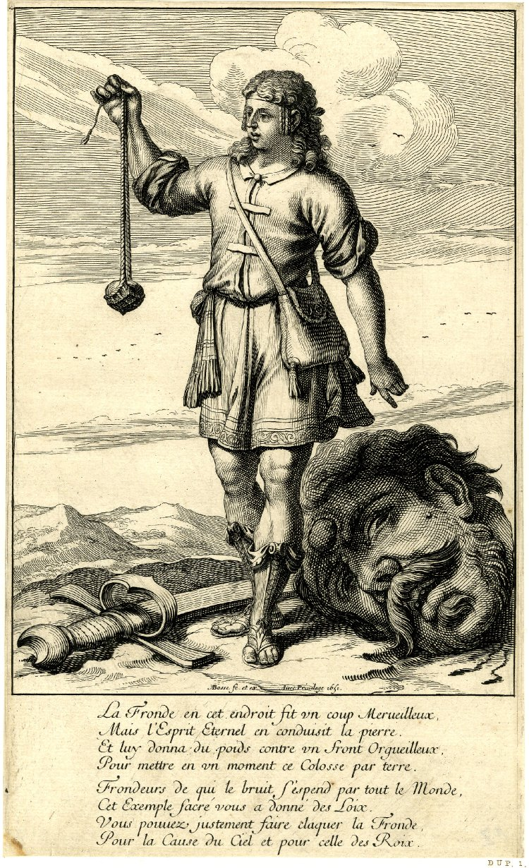 David with Goliath's head 1651