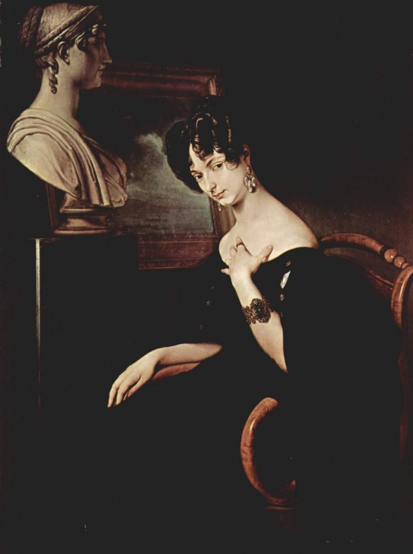 Cristina Trivulzio Belgiojoso - 1832, dipinto di Francesco Hayez