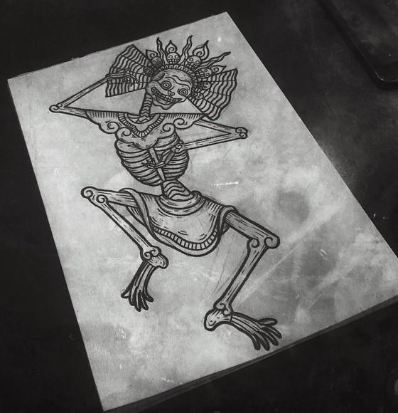 Kolahari scheletro tibetano