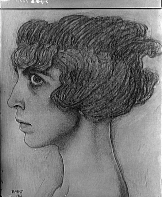 Leon Bakst, portrait-of-the-marchesa-casati-1912
