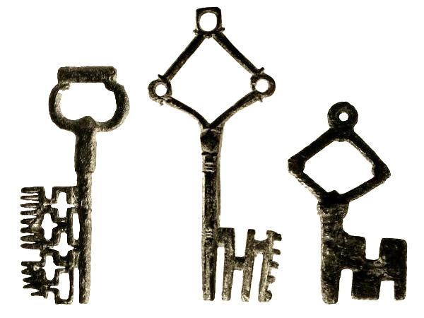 medieval keys, Collection of the Cooper-Hewitt, National Design Museum Smithsonian Libraries.