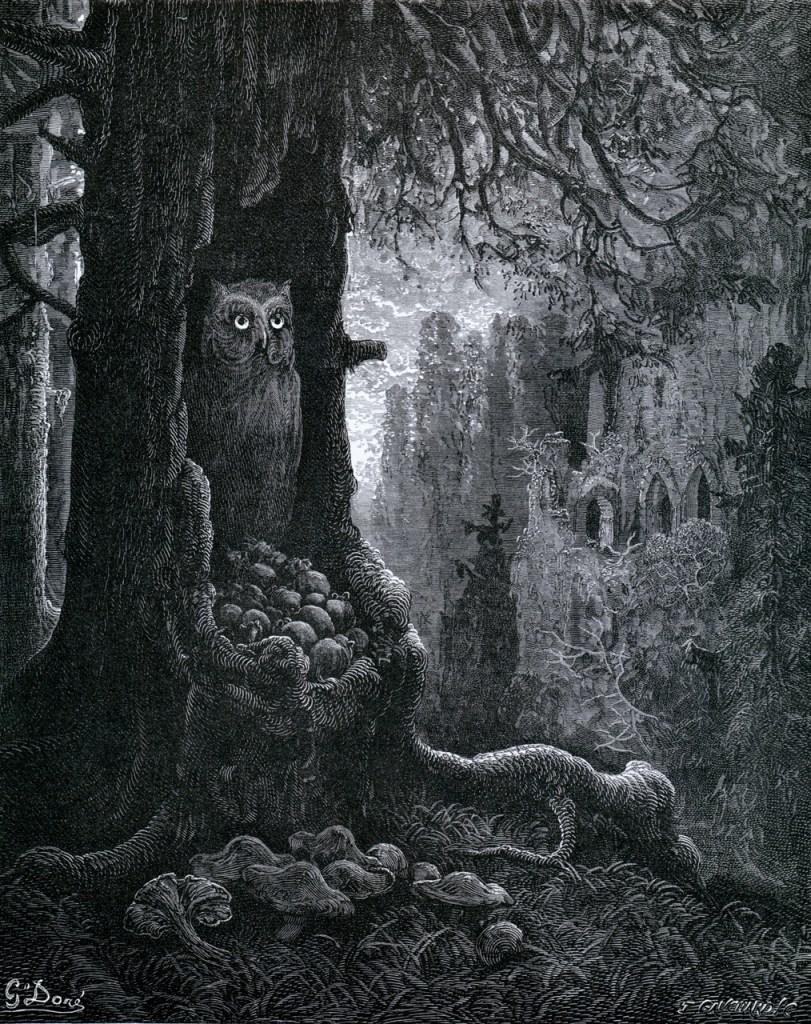 Gustave Doré Les Souris et le Chat-Huant