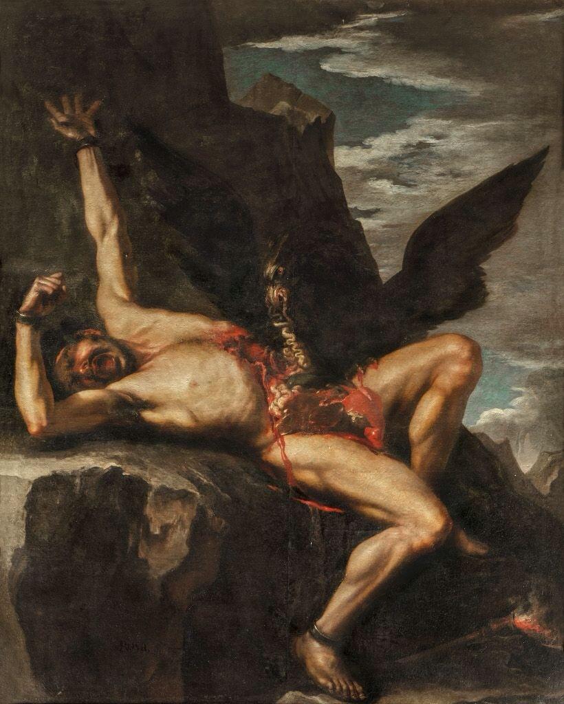 Salvator Rosa, punizione di prometeo