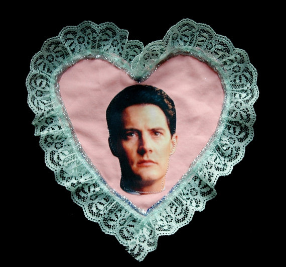 agent dale cooper frilly heart patch pastel pink via etsy giveyourselfapresent shop