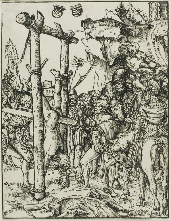 Lucas Cranach the Elder il martirio di san simone, 1512
