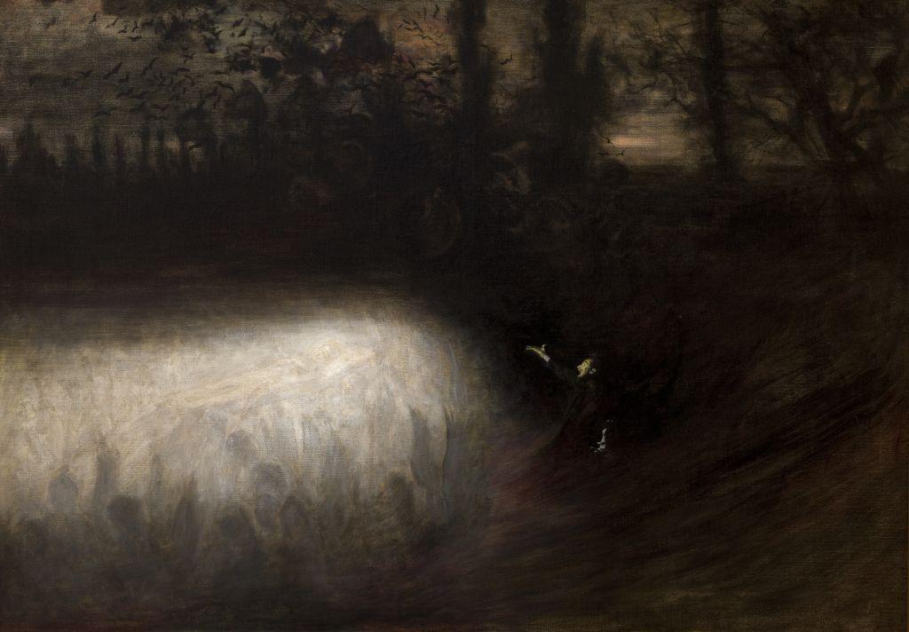 Władysław Podkowiński, Marsz żałobny Chopina, 1894, olej na płótnie, dzięki uprzejmości Muzeum Narodowego w Krakowie