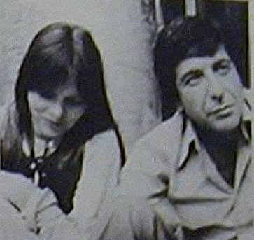Nico and Leonard Cohen pictured in the 70s. From La Liaison Fatale facebook page.