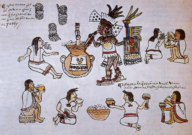 pulque ceremonia azteca codice