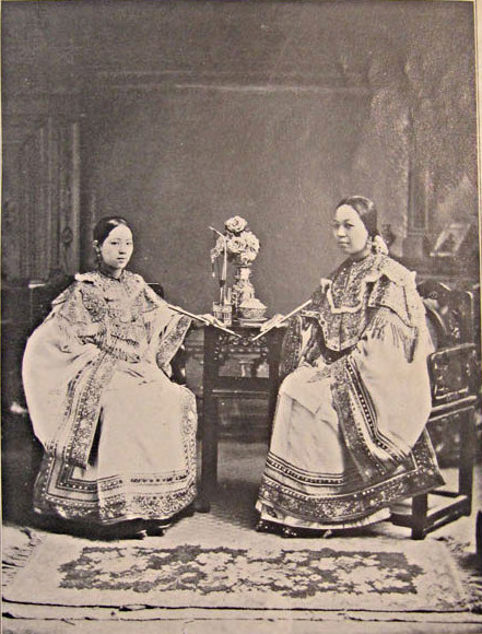 wife and daughter of chinese merchant belonging to the nobility, washington magazine 1906