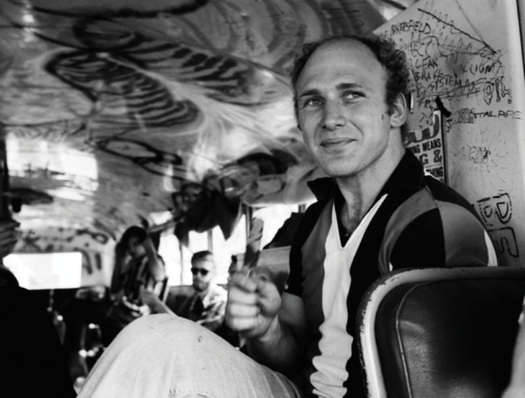 Kesey, pictured aboard Further in 1964