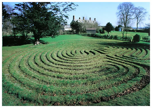 ancient-troy-maze, via troy farm bed and breakfast