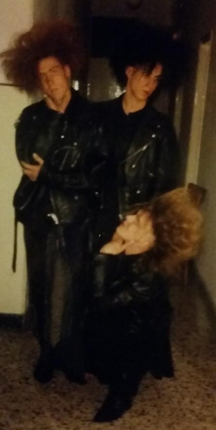 Aldo Rockers, Sergio di Meda e Mario, 1987. dall'archivio di Sergio di Meda