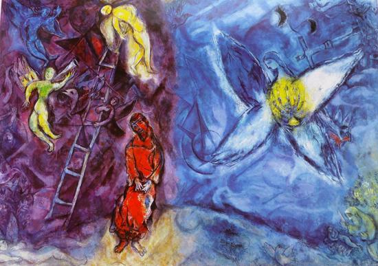 marc chagall il sogno di giacobbe