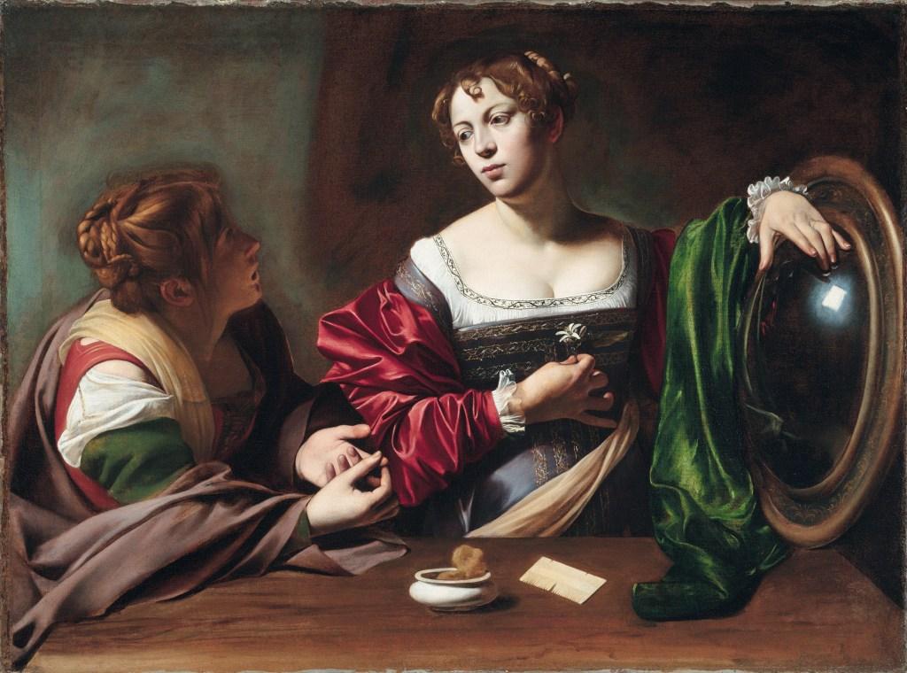 Michelangelo-Merisi-da-Caravaggio-Marta-e-Maria-Maddalena-1598-1599-Detroit-Institute-of-Arts