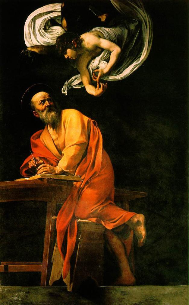 San-Matteo-e-langelo-Caravaggio-analisi-Seconda-versione