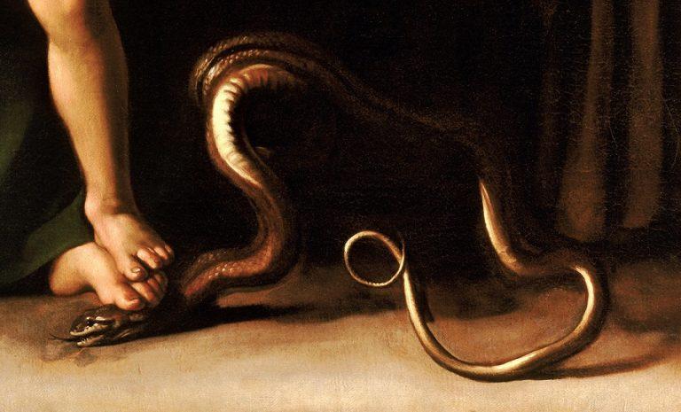 caravaggio madonna palafrenieri det