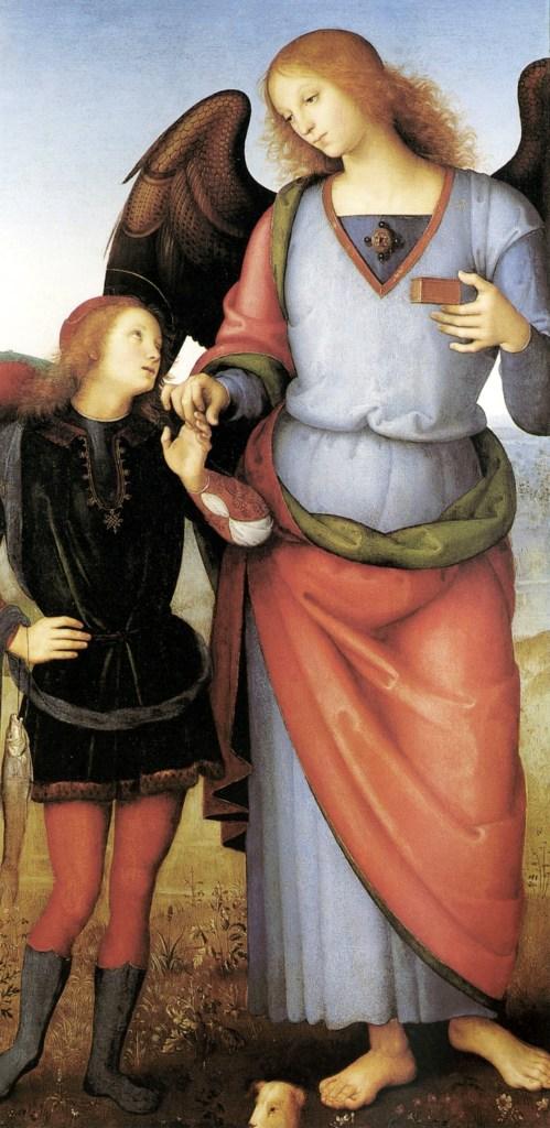 perugino archangel-raphael-with-tobias