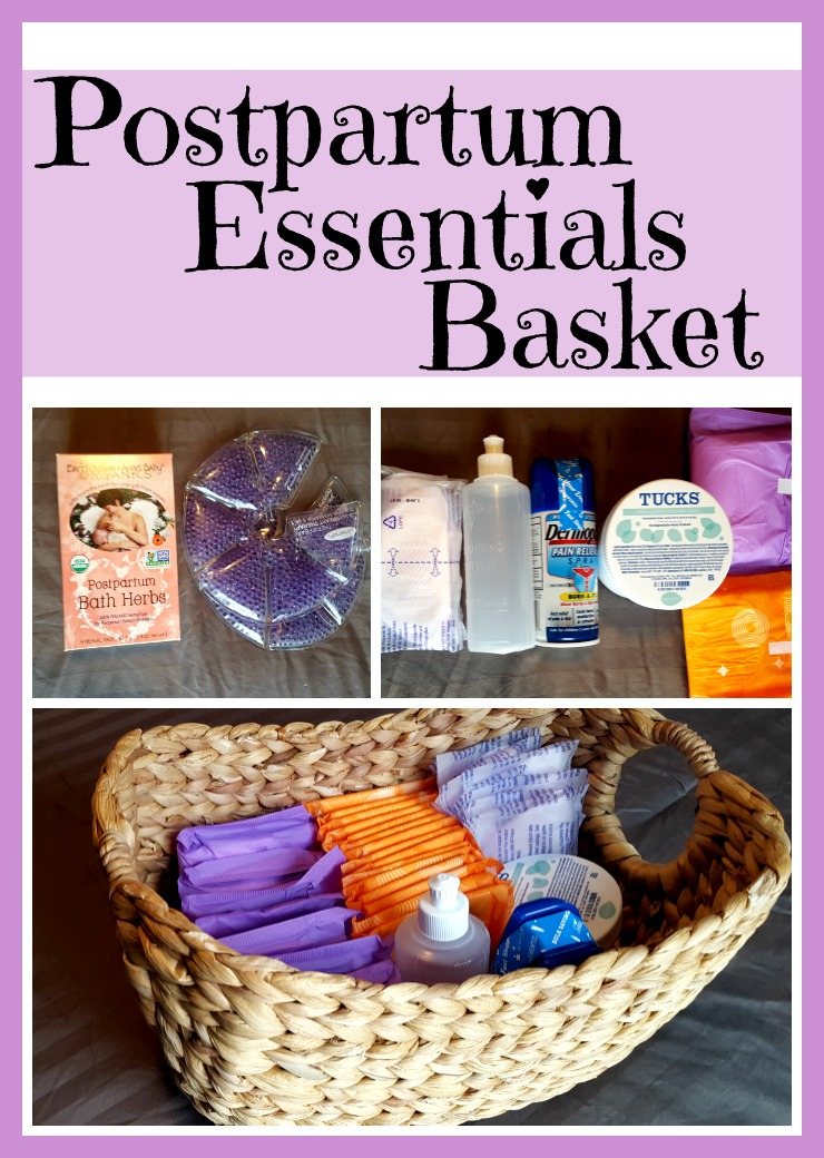postpartum essentials basket