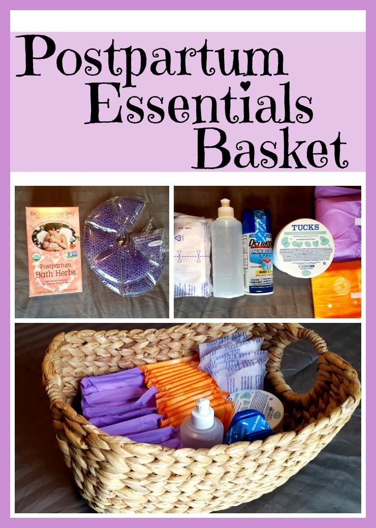 postpartum essentials basket