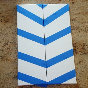 canvas with tape