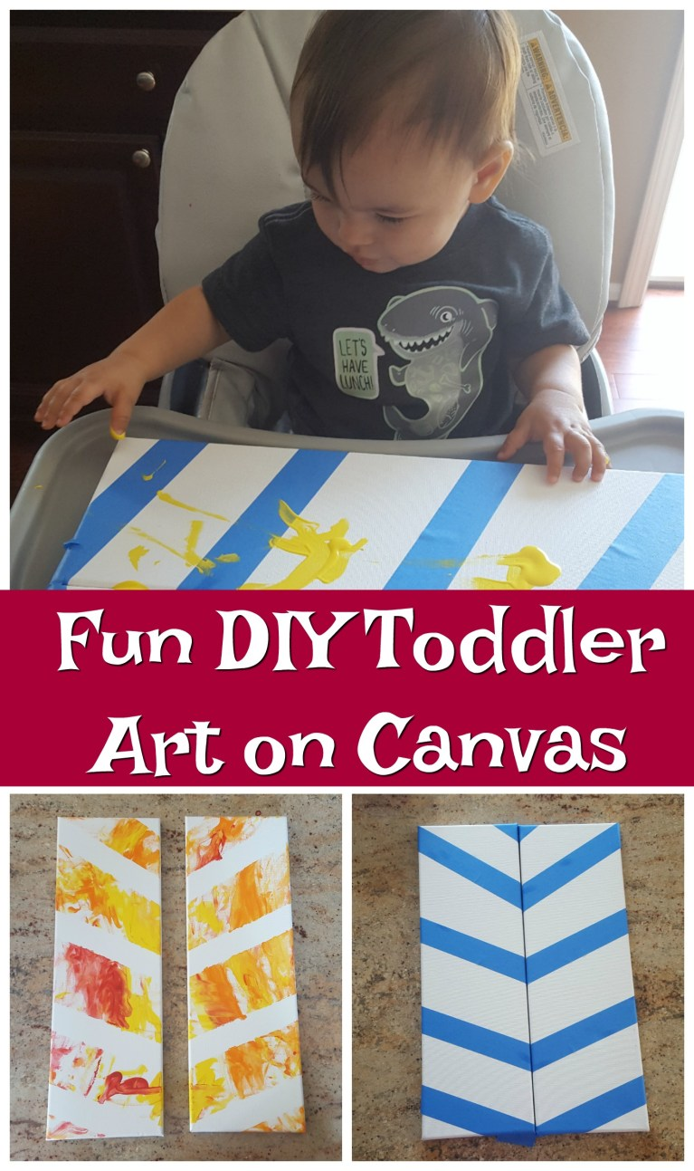 DIY Toddler Canvas Art