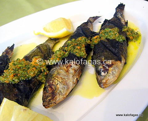 Sardines Wrapped & Grilled With Grape Leaves