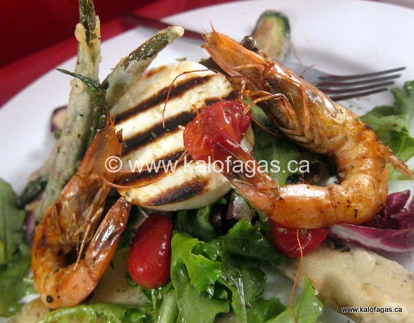 Grilled Shrimp & Manouri Salad