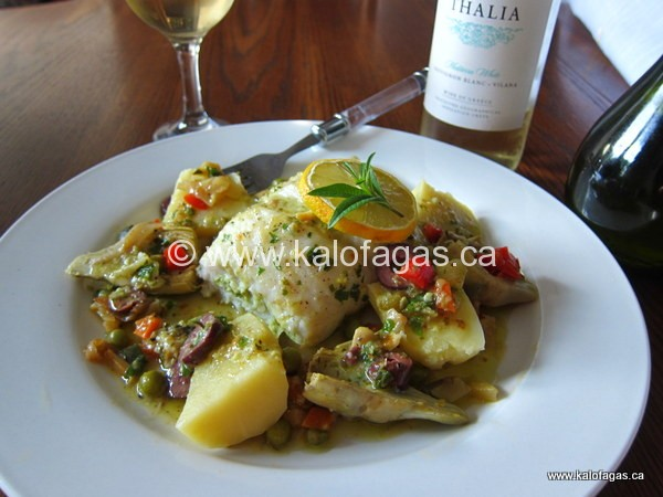 Herb-Stuffed Fish With Artichokes, Potatoes & Lemon Verbena