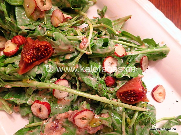 Arugula Salad With Creamy Greek Yogurt & Fig Dressing