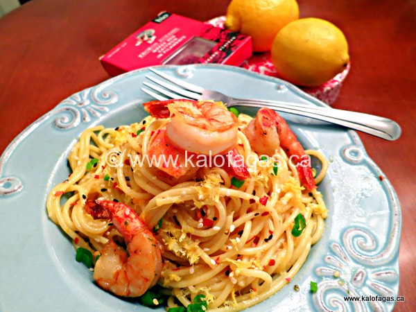 Spaghetti With Shrimp, Lemon & Saffron