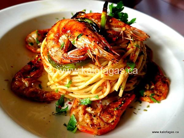 Zesty Spaghetti With Shrimp & Scallions