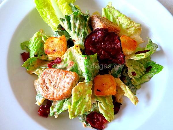 Greek-Style Caesar Salad With Pastourma and Saganaki Cheese