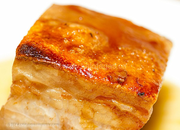 Succulent and Crisp Pork Belly With Petimezi Mustard Glaze