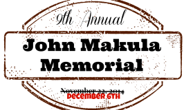 [RACE RESCHEDULED] John Makula Memorial Race DECEMBER 6TH