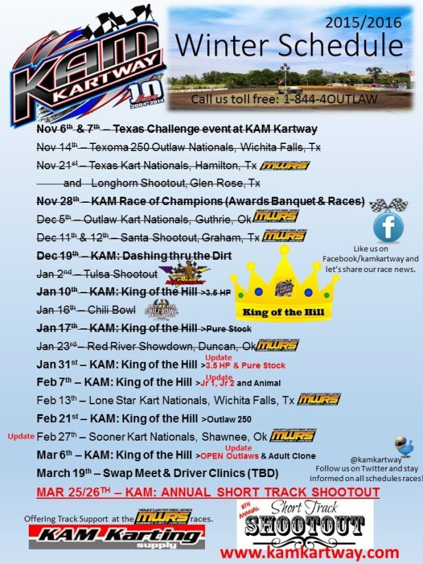 Winter Schedule with King of the Hill Series