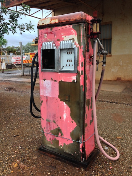 Old Gas Pump outside the old Wright Heaton building