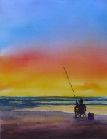 Another Day in Paradise – Watercolour 35.5 x 27.5cms