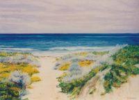 The Beach Track - Pastel 37.5 x 50 cms