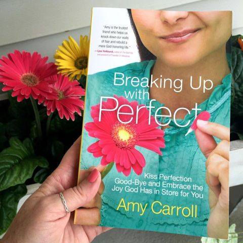 Ever feel the pressure to appear to be all that and a bags of chips? Yeah. Its time we all broke up with perfect. Giveaway of Amy Carroll's new book at karenehman.com