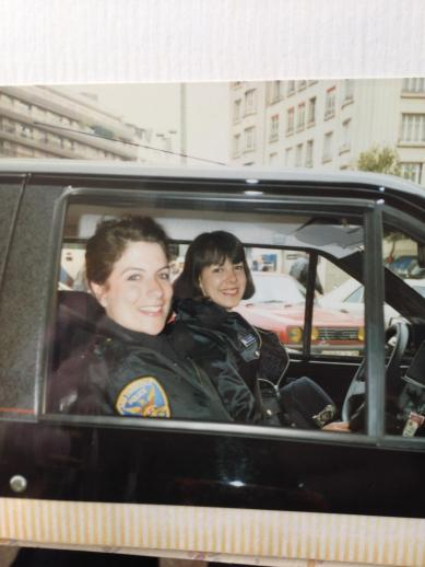 "Karen Lynch as a cop in San Francisco. Author of the books ""Good Cop, Bad Daughter"""