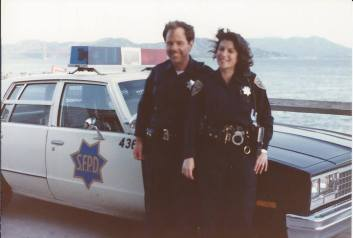 Karen Lynch as a cop in San Francisco in the 1980s. Author of books.