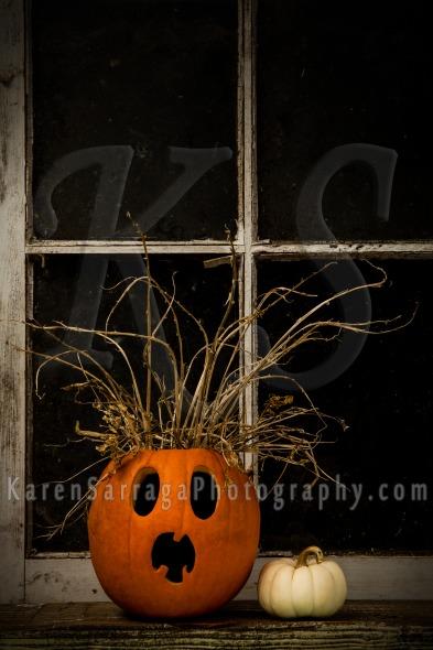 Stock Image: Surprised Jack-O-Lantern