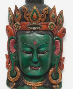 Green Tara Wooden Mask