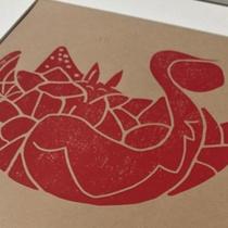 Tierkreiszeichen Fuchs – Linoldruck