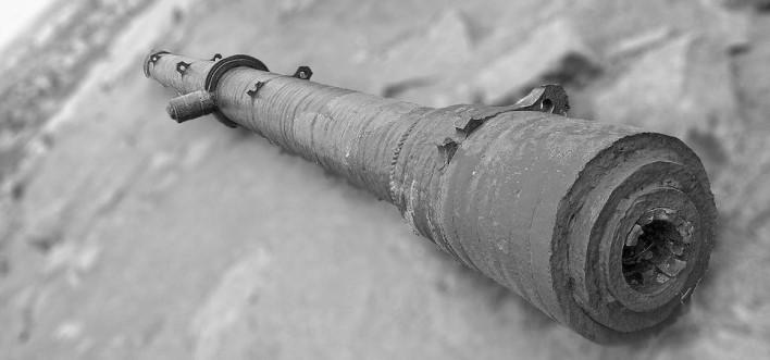Iron Cannon On Hill Top Raichur