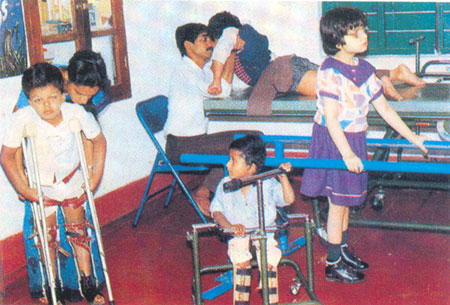 Children at a center for differently abled in Bangalore