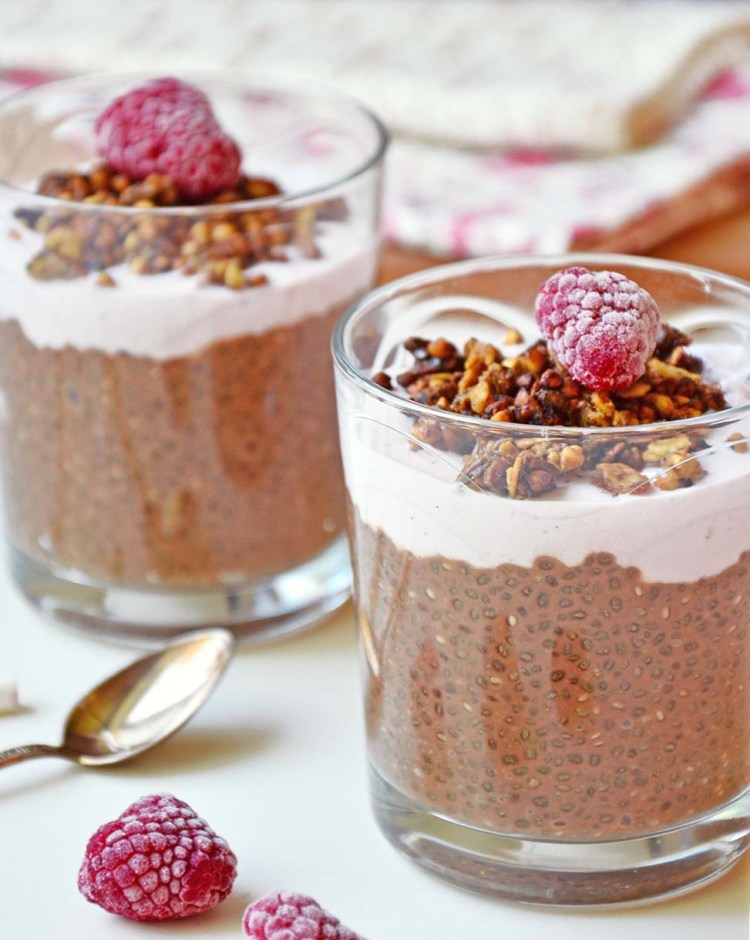 Spicy coffee and chocolate chia pudding
