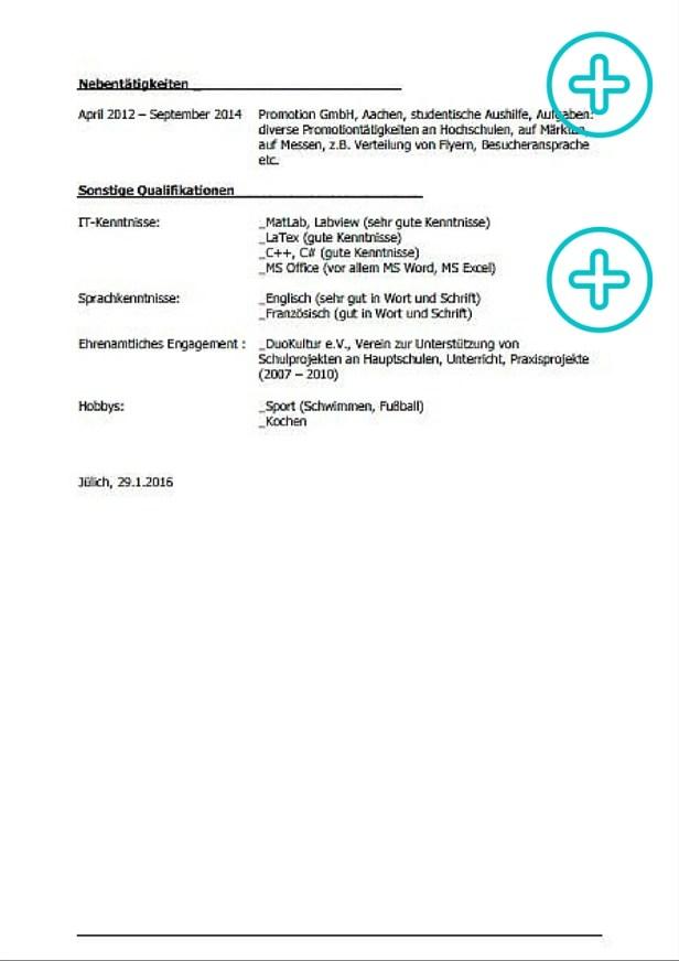 Lebenslauf Praktikum Ingenieur Biotechnologie, Beispiel, Seite 2