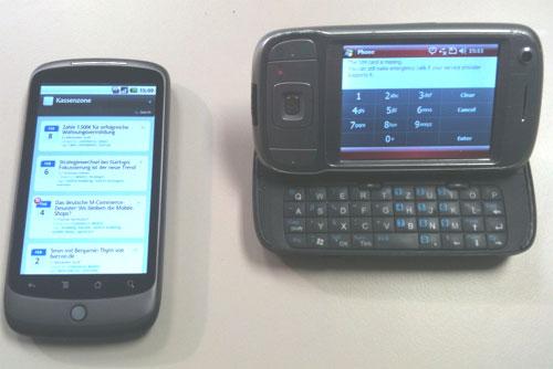 Nexus One vs. HTC Tytn II