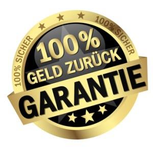 Button - 100% Geld Zurck Garantie